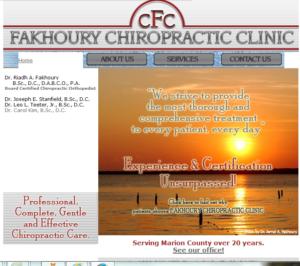 fakhoury chiropractic screenshot